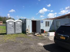 Equipment removal and tile removal from office trailers