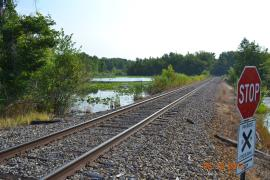 Norfolk Southern Railroad line through Patoka River NWR and Management Area
