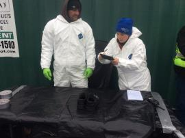 EPA contractors conducting inventory of contaminated items.