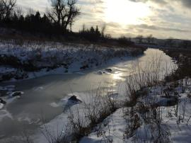 The Ash Coulee Creek near the confluence with the Little Missouri River.