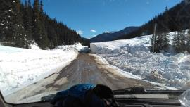 Snow slide between Silverton and Gladstone IWTP