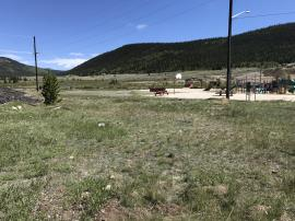 View northeast of site area toward Middle Fork of South Platte River.