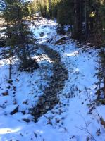 View of the constructed channel starting from the entry to the second culvert looking up toward the Jumbo Mine adit.<br />Date Taken: 10/25/2017<br />Category: Site Photo<br />Latitude: 39.5985052<br />Longitude: -105.8542102<br />Tags: Removal Action