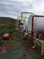 Assessing St Thomas hotel gasoline tank