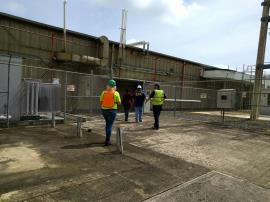 EPA team enters regulated facility, Fajardo, Puerto Rico