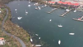 Hurricane Irma left destruction in its wake on St. Thomas, U.S. Virgin Islands (U.S. Coast Guard)    ,