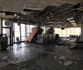 Damaged airport terminal St Thomas USVI