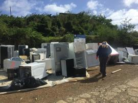 EPA team at a Household Hazardous Waste Collection Event in Culebra.