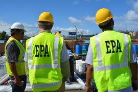 EPA staff at the Toa Baja, Puerto Rico, household hazardous waste collection event.
