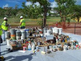Household Hazardous Waste Collection area at Evelyn Williams Elementary School in St. Croix