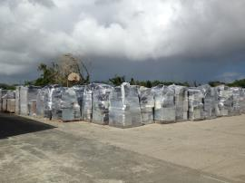 e-Waste collected at the household hazardous waste collection pad in Frederiksted, St. Croix