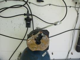 Damage to the regulator of the chlorine cylinder at the treatment plant. Cylinder itself was not damaged.