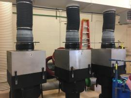 Existing air strippers at Paden City Water Treatment Plant.
