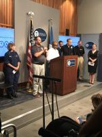 EPA Office of Emergency Management Director Reggie Cheatham participates in a Hurricane Florence briefing at FEMA headquarters in Washington, D.C. with our federal partners on Thursday, September 13, 2018.