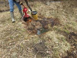 Leaking oil well Sue # 24