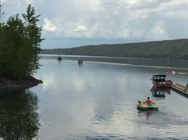 ROV target assessment activities with Wallowa County Sheriff boat escort