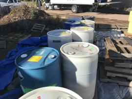 Labeled drums by EPA ERRS contractor for off-site disposal and transportation. <br />Date Taken: 10/22/2019<br />Category: Site Photo<br />Latitude: 44.1370361111111<br />Longitude: -103.132858333333<br />Tags: