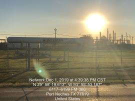 Sunset over TPC facility<br />Date Taken: 12/1/2019<br />Category: 20191201<br />Latitude: 29.9721138888889<br />Longitude: -93.9314416666667<br />Tags: