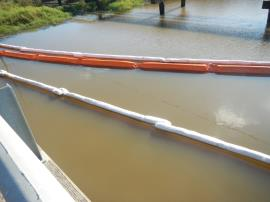 Clean boom in 201 canal.<br />Date Taken: 12/6/2019<br />Category: Site Photo<br />Latitude: 29.9753125386503<br />Longitude: -93.9449089156748<br />Tags: