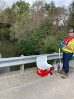 START conducting water sampling<br />Date Taken: 12/10/2019<br />Category: 20191210<br />Latitude: 29.973082<br />Longitude: -93.930001<br />Tags:
