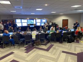 Incident Command Post<br />Date Taken: 11/28/2019<br />Category: 20191128<br />Latitude: 29.9753125386503<br />Longitude: -93.9449089156748<br />Tags: