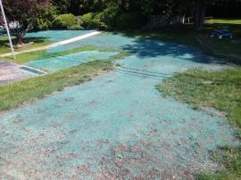 Completed hydroseeding at home 421