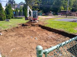 Soil excavation at one of the affected properties.