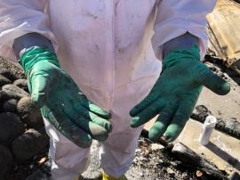 PPE gloves dirty after clearing HHW at property in Phoenix.jpg