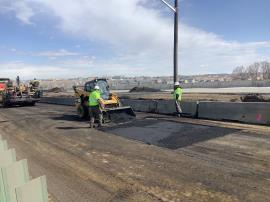 Asphalt operations being conducted on I-25 Northbound.