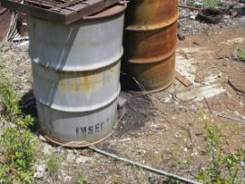 insecticide labeled drums