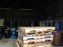 Drums within Warehouse