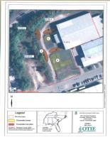 Site Layout denoting excavation & stock pile areas