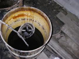 rosin in open container on site