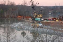 Construction of southern Weir 1<br />Date Taken: 12/27/2008<br />Category: <br />Latitude: <br />Longitude: <br />Tags: