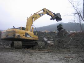 Removal of fly ash from Area C along north end of Swan Pond Road.<br />Date Taken: 1/3/2009<br />Category: <br />Latitude: <br />Longitude: <br />Tags: