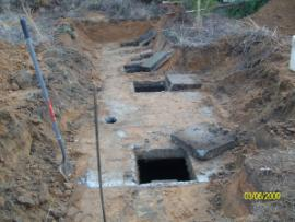 Septic system uncovered
