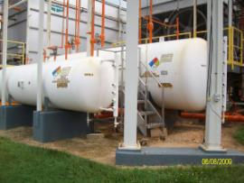 Ammonia Tanks transferred to retention pond on facility WWTP