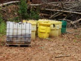 Containerized waste collected from NCDENR contractors in Spring 2009.