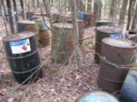 Paint waste drums