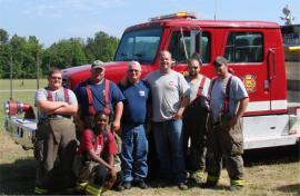 OSC and Hampton County Volunteer FD who fought the structure fire on/off for three days.