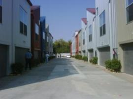 driveway within Phase 1 of townhouse development