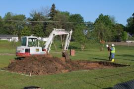 Excavation begins at Hunt Intermediate School