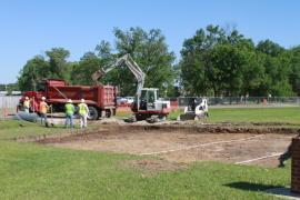 EPA excavation at Hunt Intermediate School