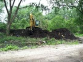 Excavation and stockpiling of soil