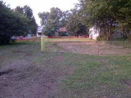fencing erected to cordon off excavation area at 1530 Wilson (KDEP lot).