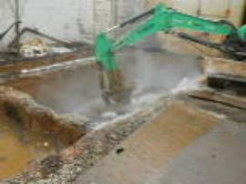 ERRS solidifying sludge in Pit W-31 with solidifying agents.<br />Date Taken: 4/18/2013<br />Category: Site Photo<br />Latitude: <br />Longitude: <br />Tags: