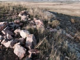 Rip raps being lined up along the edge of the previous pit to minimize erosion.<br />Date Taken: 9/20/2014<br />Category: Site Photo<br />Latitude: <br />Longitude: <br />Tags: