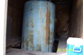 Internal storage tank with unknown contents.