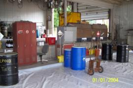 New staging area for containers of known contents.