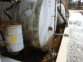 Tanks in Tank Farm 2 after water from H. Sandy was removed.